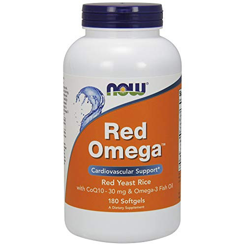NOW Supplements, Red Omega with CoQ10 30 mg and Omega-3 Fish Oil, 180 Softgels