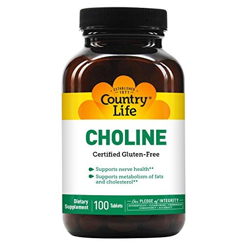 Country Life Choline 650 Mg, 100-Count