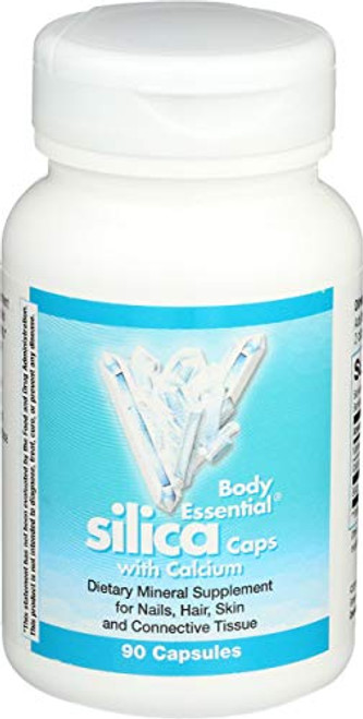 Body Essential Silica w/Calcium; Nails Hair Skin & Connective Tissue 90 Count (Nature's Way Brands)