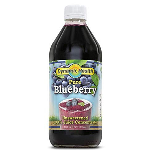 Dynamic Health 473ml 100 Percent Pure Blueberry Juice Concentrate   16 Fluid Ounce
