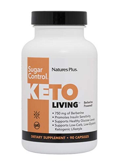 KetoLiving Sugar Control Capsules - 90 Vegetarian Capsules - Promotes Healthy Metabolism & Blood Sugar - Optimal Weight Management - Improves Insulin Sensitivity - Vegetarian - 30 Servings