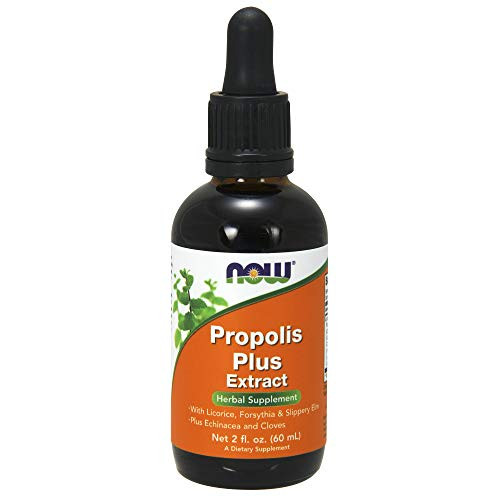 NOW Supplements, Propolis Plus Extract Liquid with Dropper, Herbal Supplement, 2-Ounce