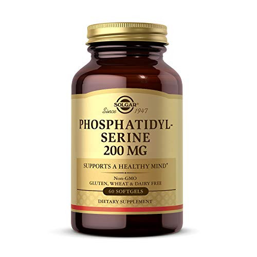 Solgar Phosphatidyl-Serine 200 mg, 60 Softgels - Premium Brain Health Supplement, Supports a Healthy Mind & Cognitive Function - Gluten Free, Dairy Free - 60 Servings