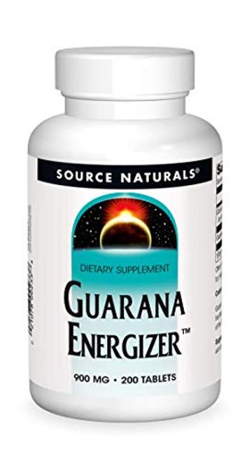 Source Naturals Guarana Energizer 900 mg - 200 Tablets