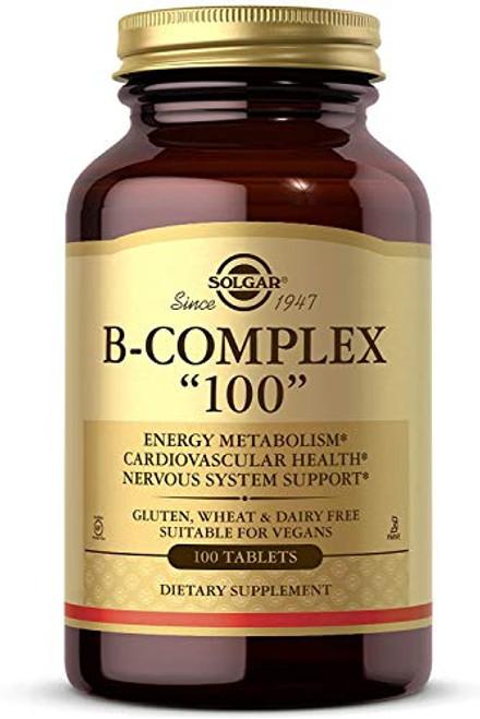 """Solgar - B-Complex """"100"""" Tablets 100 Count"""