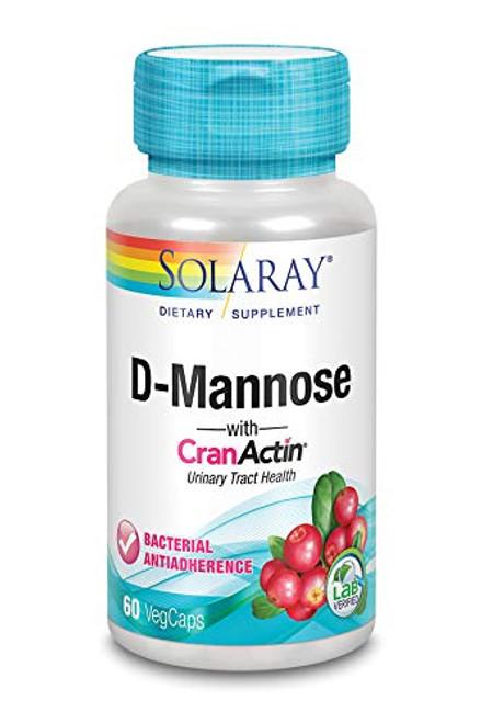 Solaray D-Mannose with CranActin, Urinary Tract Health, 60 VegCaps