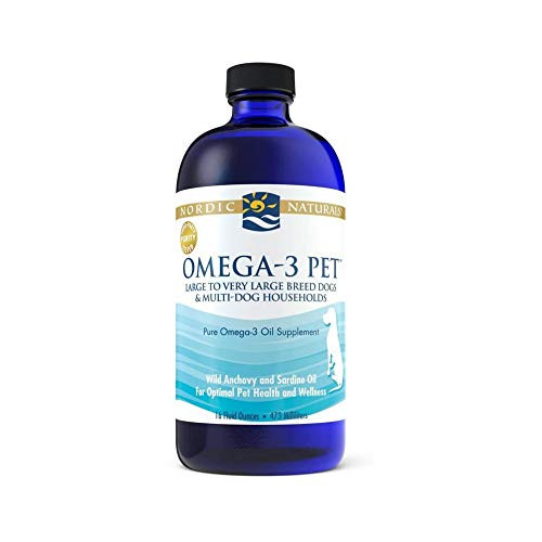 Nordic Naturals Omega-3 Pet Oil Supplement, Promotes Optimal Pet Health and Wellness, for Large to Very Large Breed Dogs and Multi-Dog , 16 oz - Standard Packaging-1610133938