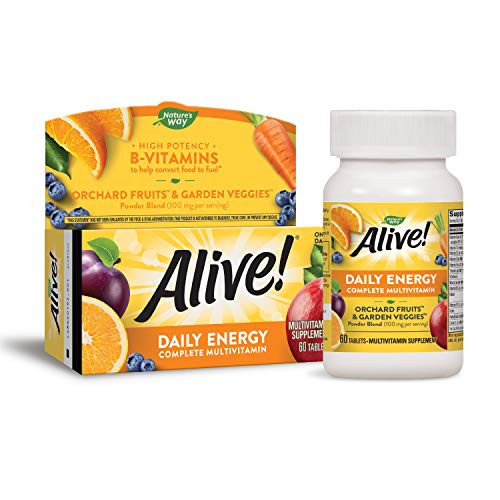 Nature's Way Alive! High Potency Daily Energy Multi-Vitamin Multi-Mineral Once Daily, 60 Tablets