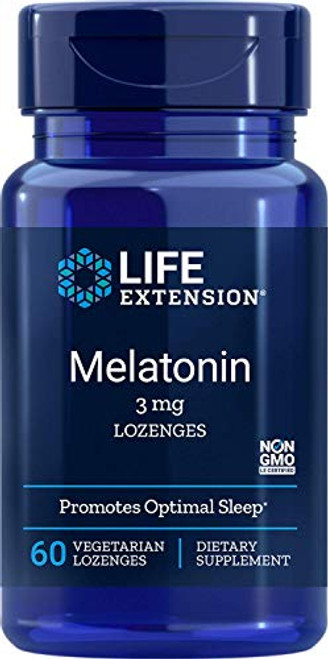 Life Extension Melatonin 3mg, 60 Vegetarian Lozenges