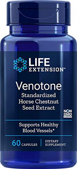 Life Extension Venotone (Standardized Horse Chestnut Seed Extract) 250 mg, 60 Capsules