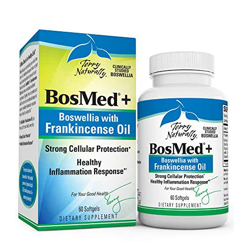 Terry Naturally BosMed + Boswellia with Frankincense Oil - 60 Softgels - Healthy Inflammation Support Supplement, Promotes Cellular Protection - Non-GMO, Gluten-Free - 60 Servings