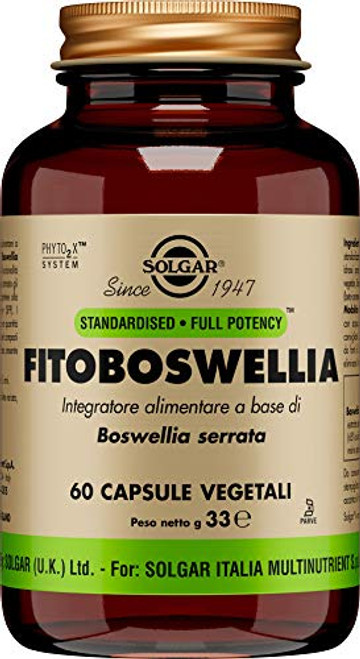 Solgar Boswellia Resin Extract, 60 Vegetable Capsules - Supports Joint Comfort & Digestive Health - Standardized Full Potency (SFP) - Non-GMO, Vegan, Gluten Free, Dairy Free, Kosher - 60 Servings