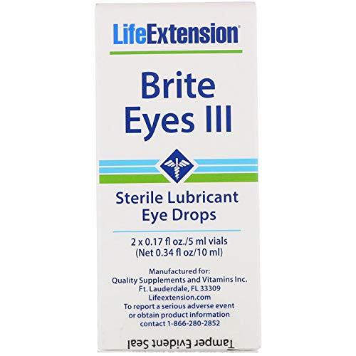 Life Extension Brite Eyes, 2 Tubes, 5 ml Each, 0.17 Fl Oz (Pack of 2)