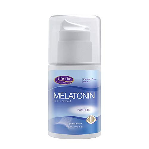 Life-Flo Melatonin Body Cream | Nighttime Relaxation Cream Soothes & Moisturizes Dry Skin | High Absorption | No Parabens, Unscented | 2oz