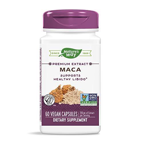 Nature's Way Maca Standardized 0.6% Glucosinolates, 350 mg of Extract per serving, 60 Capsules