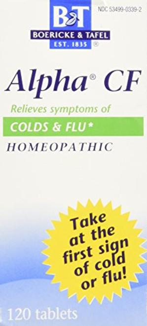 Boericke & Tafel Alpha CF Homeopathic Colds & Flu Symptom Relief, 120 Count