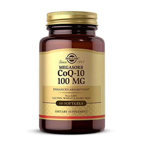 Solgar Megasorb CoQ-10 100 mg, 60 Softgels - Supports Heart Function & Healthy Aging - Coenzyme Q10 Supplement - Enhanced Absorption - Non-GMO, Gluten Free, Dairy Free - 60 Servings