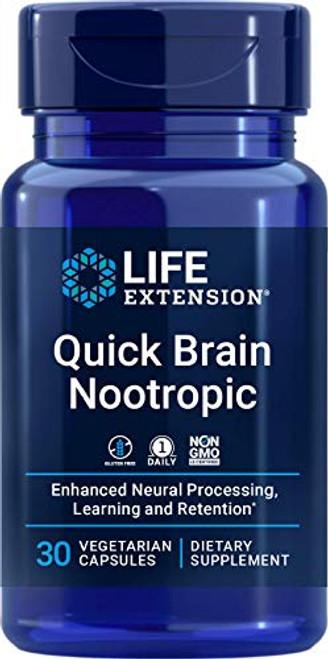 Life Extension Quick Brain Nootropic, 30 Count (02406)