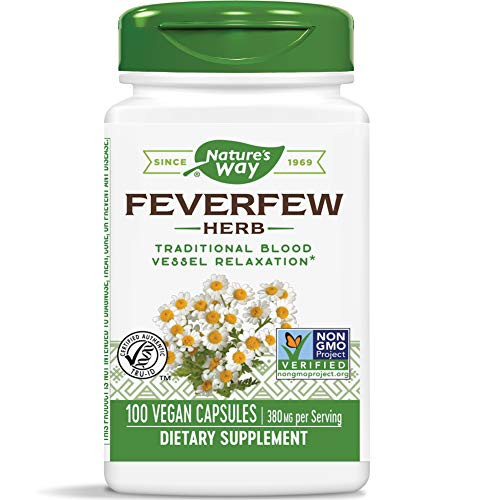 Nature's Way Feverfew 380 mg TRU-ID Certified Non-GMO Project Vegetarian; 100 Count-1610570639
