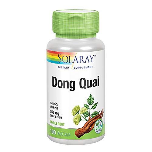 Solaray Dong Quai Root 550mg | Healthy Menstrual & Menopausal Support | Womens Health Supplement | Whole Root | Non-GMO, Vegan & Lab Verified | 100ct