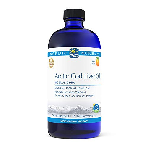 Nordic Naturals Pro Arctic Cod Liver Oil, Orange - 16 oz - 1060 mg Total Omega-3s with EPA & DHA - Heart & Brain Health, Healthy Immunity, Overall Wellness - Non-GMO - 96 Servings