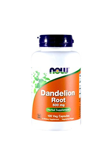 NOW Dandelion Root 500mg, 100 Capsules (Pack of 3)-1610571403