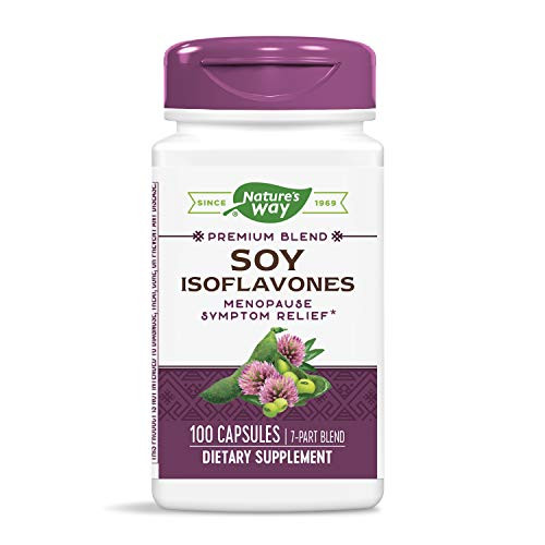 Nature's Way Soy Isoflavones, 100 Capsules (Pack of 2)