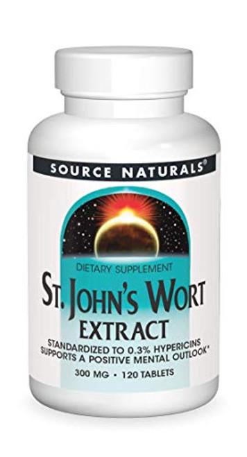 Source Naturals St. Johns Wort 300mg, 120 Tablets