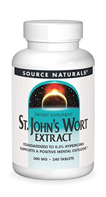 SOURCE NATURALS St. John's Wort Extract 300 Mg Tablet, 240 Count-1610572058