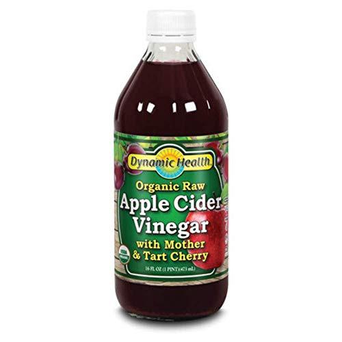Dynamic Health Apple Cider Vinegar w Mother & Tart Cherry Organic | 16 oz
