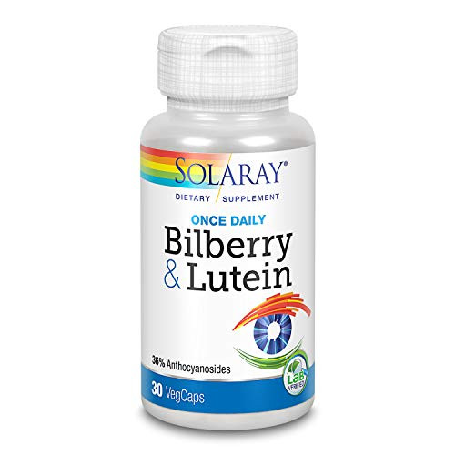 Solaray One Daily Bilberry and Lutein Supplement, 160 mg | 30 Count