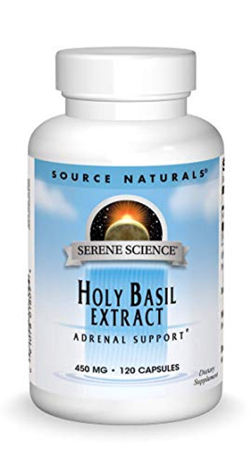 Source Naturals Holy Basil Extract 450mg, 120 Capsules-1610572806