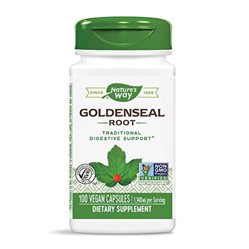 Nature's Way Premium Herbal Goldenseal Root, 1,140 mg per serving, 100 Capsules