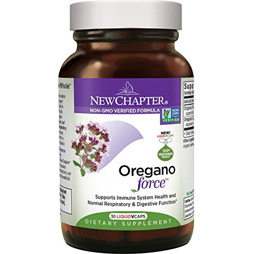 New Chapter Oregano Force for Immune Support with Supercritical Organic Oregano + Non-GMO Ingredients - 30 ct Vegetarian Capsules-1610573179
