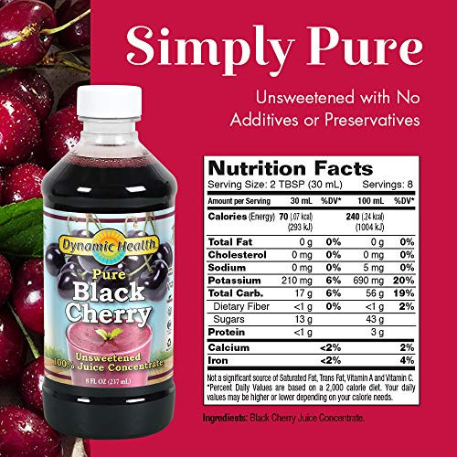 Dynamic Health Juice Concentrate, Black Cherry, 16 Fl Oz (Pack of 2)