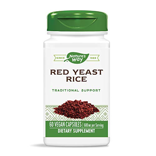 Nature's Way Premium Quality Red Yeast Rice 600 mg, 60 Vcaps