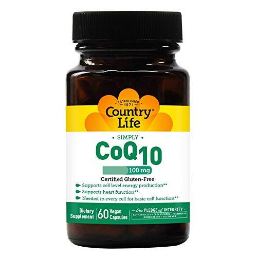Country Life CoQ10, 100 mg, Vegetarian Capsule, 60-Count