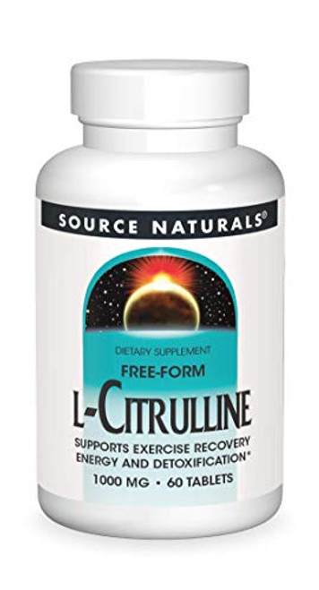 Source Naturals L-Citrulline 1000mg - Nitric Oxcide Booster - 60 Capsules-1610574118