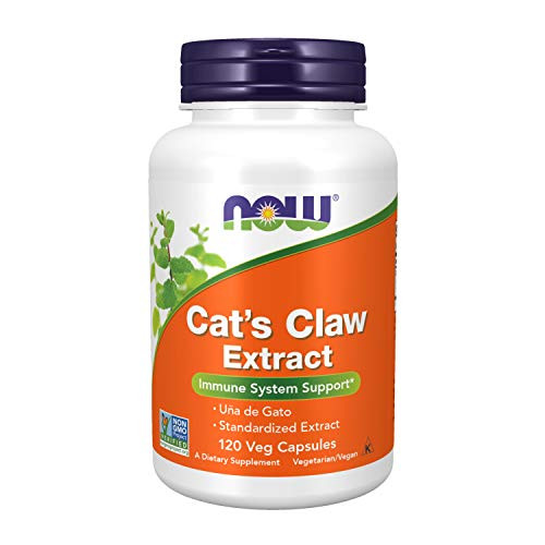 NOW Supplements, Cat's Claw Extract, 10:1 Concentrate, (1.5% Standardized Extract), 120 Veg Capsules