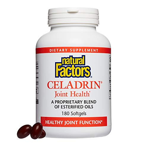Natural Factors, Celadrin Joint Health, Promotes Flexibility, Mobility and Joint Function, Dietary Supplement, 180 softgels (60 Servings)