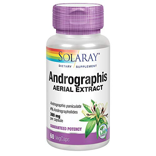 Solaray Andrographis Aerial Extract 300 mg | Healthy Immune System & Respiratory Tract Support | 30 Serv | 60 VegCaps