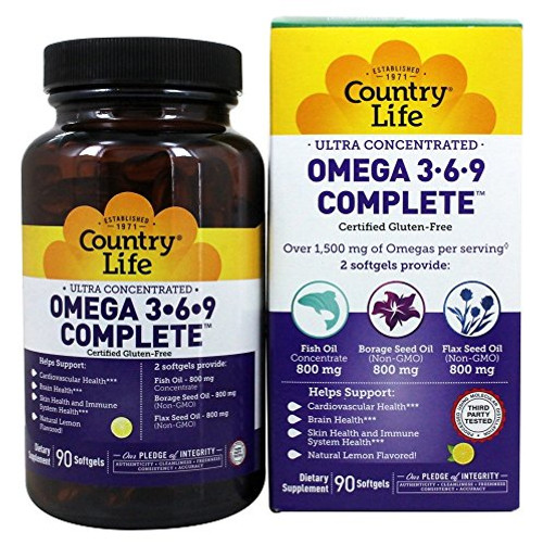 Country Life - Ultra Concentrated Omega 3-6-9 Complete - 90 Softgels-1610575199