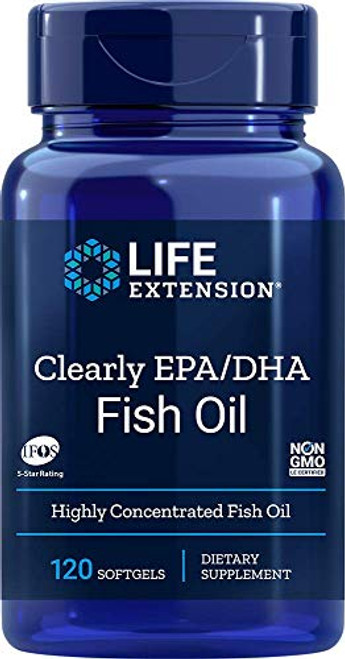 Life Extension Clearly Epa/Dha Fish Oil, 120 Count