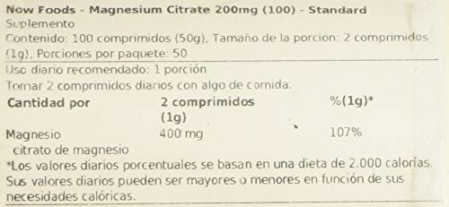 Magnesium Citrate 200mg 100 Tablets (Pack of 2)