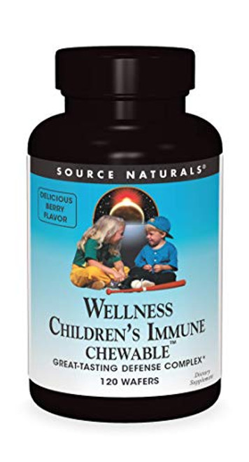 Source Naturals Wellness Children's Immune Chewable, Great-Tasting Defense Complex, 120 Wafers-1610691732