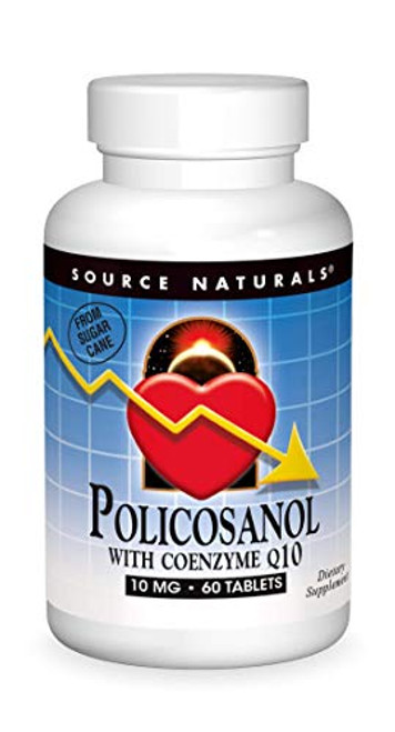 SOURCE NATURALS Policosanol with Coenzyme Q10 10 Mg Tablet, 60 Count-1610691950