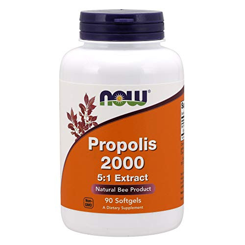NOW Supplements, Propolis 2,000 (Bee Propolis), 5:1 Extract, Natural Bee Product, 90 Softgels
