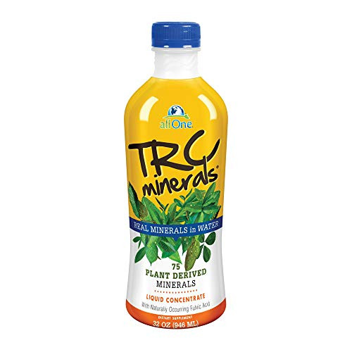 allOne TRC Minerals Liquid | Unflavored | Full Spectrum of 75 Plant-Derived Trace Minerals & Electrolytes Per Ounce | 32oz-1610692608