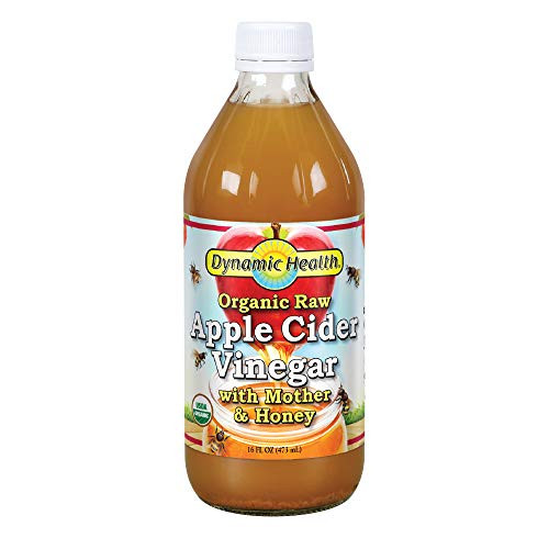 Dynamic Health Apple Cider Vinegar with the Mother and Natural Honey, 16 Ounce