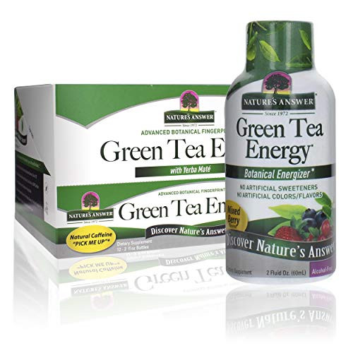 Nature's Answer Green Tea Energy Shot Cast, 12 Count   Natural Energy   Powerful Green Tea   Antioxidants